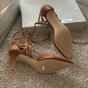 Marc Fisher Shoes - Marc Fisher laced up heels #suede #newshoes